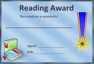 classroom awards printable reading
