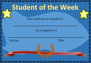student week awards printable