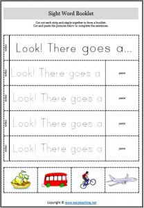 sight word strips booklet