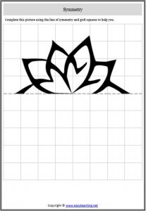 symmetry flower worksheet