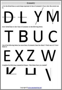 symmetry alphabet letters worksheet