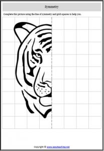 symmetry animal worksheet tiger