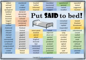 said vocabulary classroom display poster