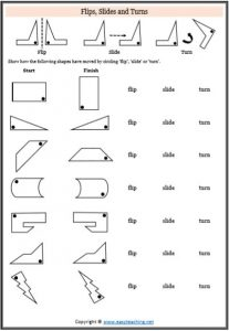 transformation worksheets flip turn slide
