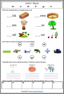 spelling worksheets year 1
