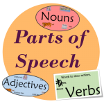 parts of speech nouns verbs adjectives easyteaching