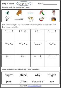 long i worksheet long vowel worksheets