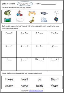 long o worksheet long vowel worksheets