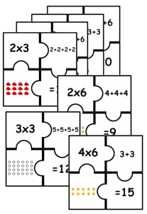 multiplication puzzles fun
