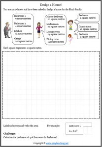 image about Area and Perimeter Printable Games named Nearby and Perimeter Worksheets. Sizing