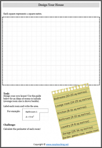 photo relating to Area and Perimeter Printable Games titled Room and Perimeter Worksheets. Dimension
