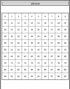 hundred grid printable pdf