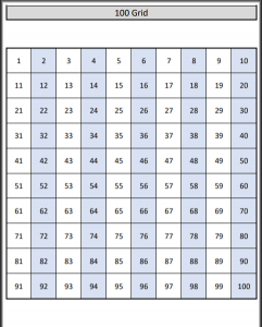 image about 100 Grid Printable titled Hundred Board Worksheets 100 Grid Worksheets