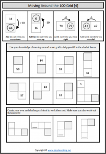 hundred grid worksheets