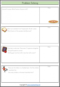 easy fraction word problems grade 2