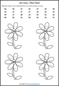 place value worksheet grade 1 year 2