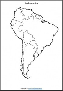 south america map blank printable