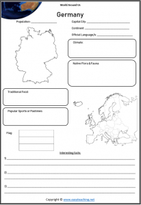 germany geography worksheets countries of world
