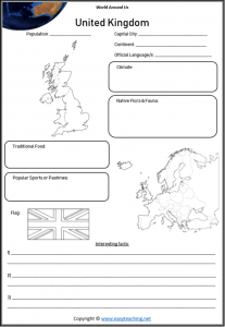 uk geography worksheets countries of world