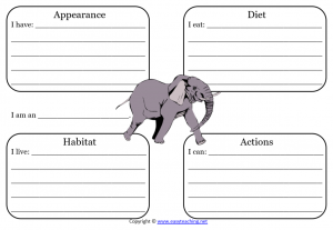 elephant learning sheet science