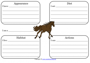 horse worksheet science