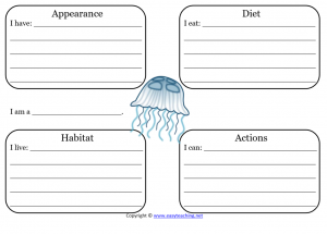 jellyfish learning sheet science