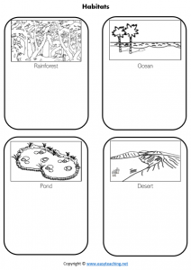 animal homes worksheets kids science habitat worksheets