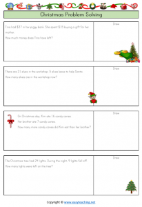 christmas worksheets christmas word problems subtraction