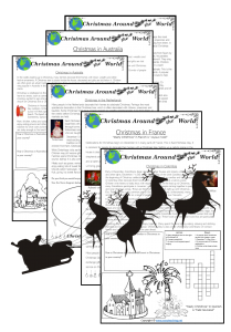 christmas around the world worksheets activity sheets