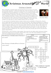 christmas around the world worksheets colombia