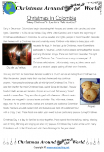 christmas in colombia information worksheet