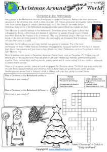 christmas around the world worksheets netherlands
