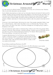 christmas around the world worksheets comparing uk england britain
