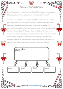 christmas worksheet summarising reading comprehension