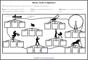 parts of speech fun worksheet activity island