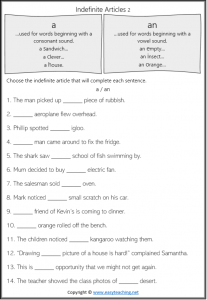 articles in grammar worksheets a an indefinite articles pdf answers
