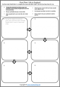 cause effect first fleet worksheet reading activity pdf