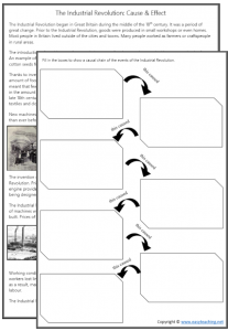 industrial revolution cause effect worksheet pdf kids