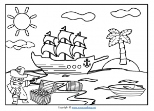 pirate worksheets color in coloring in colour in page pdf