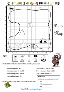 pirate worksheets mapping pdf grid reference