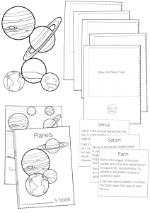 planets folding booklet activity pdf solar system worksheets planets