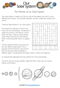 solar system worksheets space reading passage pdf