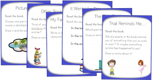 literacy centers centres reading task cards pdf