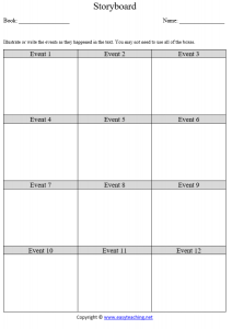 story board sequence retell comprehension reading pdf