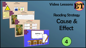cause effect video lesson reading strategy