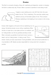 erosion information sheet kids reading pdf