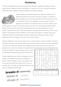 weathering information sheet kids reading pdf