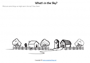 whats in the sky worksheets draw sun moon stars science kids pdf