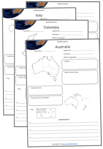 world around us worksheets country information research kids geography