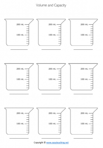 capacity worksheets ml millilitres milliliters litres liters pdf grade 4 year 5